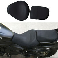 2x Black Motorcycle Seat Cover Breathable Cooling Mesh for Kawasaki Vulcan S 650