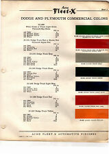 1934 1935 1936 1937 1938 1939 1940 1941 TO 1955 DODGE TRUCK PAINT CHIPS ACME14PC