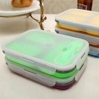 Portable Lunch Box Silicone Food Storage Container for Microwave Oven Freezer AL