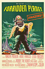 "1956 Vintage Science Fiction Movie Poster Forbidden Planet 24"" x 36"""