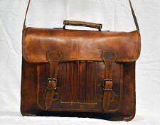 vintage leather messenger Real brown laptop satchel bag genuine briefcase india