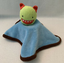 BABIES R US Monster Alien Security Blanket Lovey Blue Green Red Brown Plush 12""