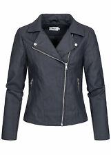 40% off b20020352 señora only chaqueta piel sintética Biker chaqueta steppdetail Navy azul