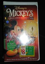NIP Disney VHS Mickey's Once Upon a Christmas + Exclusive Lithograph