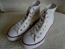 Converse All Star white Canvas lace-up high top trainers boots UK4/ 34 EUR
