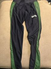 Women's Seattle Seahawks Running Tights Compression Pants Medium M