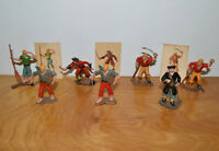 Vintage MARX WARRIORS OF THE WORLD Pirates Figurines & Cards Lot Toy Soldiers
