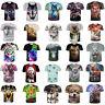 3D Print T-Shirt Women Men Casual Crew Neck Short Sleeve Animal Graphic Tops Tee