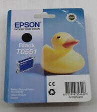 EPSON T0551 Tinte schwarz C13T05514010 für Stylus Photo R240, R245, RX420, RX425