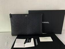 Authentic Chanel caviar clutch bag