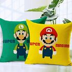 Super Mario Bros Printed Cushion Cover Sofa Linen Cotton Throw Pillow Case Slip