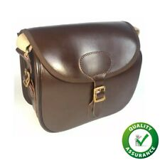 Langdale, Genuine Leather Cartridge Bag with Brass Buckles and Adjustable Strap