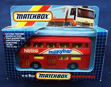 Matchbox Superkings K-15 London Bus - Nestle Milkybar - Londoner DMS Fleetline