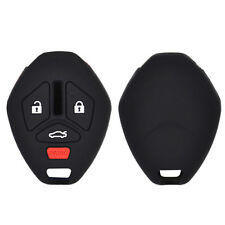 Silicone Key Case Cover For Mitsubishi Lancer EVO ASX Endeavor Fob Remote Jacket