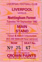 original 1982-83 division 1 LIVERPOOL (champions) NOTTINGHAM FOREST ticket