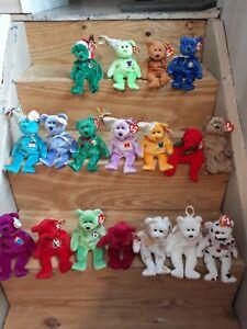 Ty beanie babies bears lot