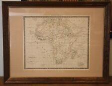 Beautiful Antique French Map of Continent of Africa Afrique Dufour Paris c1850
