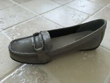 WOMENS SUPERSOFT DIANA FERRARI, PORTSEA LEATHER WORK/CASUAL SHOES SIZE 5C SILVER