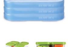 New listing Rubbermaid LunchBlox Blue Freezer, Medium Ice Pack Set, 3 Pack