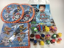 Spin Master Paw Patrol 15 Action Figures & Plates Napkins Tablecover Bundle