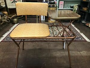 Mid-Century Vintage Gossip Bench Telephone Table With Seat (LOCAL PICK UP ONLY)