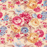 Cotton Fabric FQ Flower Bouquet Shabby Vintage Retro Chic Quilting Material VK98