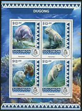 SOLOMON ISLANDS  2017  DUGONG  SHEET MINT NH