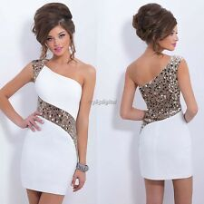 Ladies Women Summer Sequins Bodycon Lace Evening Sexy Party Cocktail Mini Dress