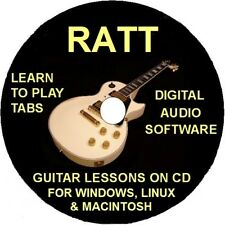 Ratt 46 Guitar Tabs Software Lesson CD, 7 Backing Tracks & Free Bonuses