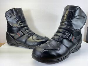 Alpinestars Boots Motorcycle Black Leather Boots Waterproof Mens US12,So Clean