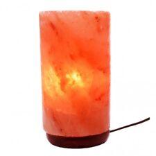 Himalayan Cylinder Natural Crystal Salt Lamp With Bulb & Cord