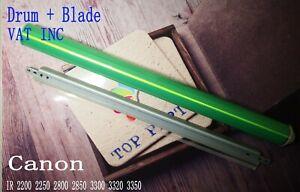 OPC drum + Cleaning blade + chip for Canon c2200c2250c2800c2850c3300c3320c3350