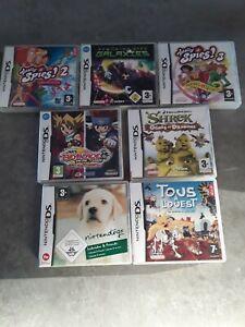 Lot De 7 Jeux Nintendo DS. Complets.
