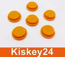 6x Schlüssel Taste Druckknopf Gummi Gelb für SMART ForTwo MC01 450 Fernbedienung