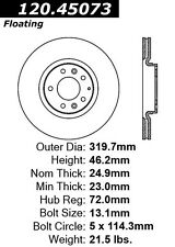 Disc Brake Rotor-High Performance Drilled Centric 128.45073L fits 06-07 Mazda 6