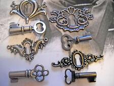 Keyhole Pendants Connectors Link Steampunk Locks Assorted Lot Key Sets