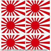 """JAPAN Japanese Rising Sun Flag 40mm (1.6"""") Mobile Phone Mini Stickers-Decals x6"""