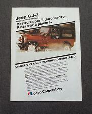 G200-Advertising Pubblicità - 1982 - JEEP CJ-7 QUATTRO RUOTE MOTRICI