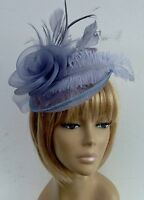 New Grey Hat Fascinator Mother Of The Bride/Groom Weddings, Ladies Day Races