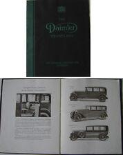Daimler Twenty-Five 25 Saloon Sports Limousine 1930-31 Original Sales Brochure