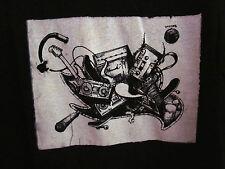 TONY HAWK skate tee surreal lrg T shirt skateboarding guitar tape logo boombox