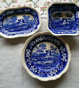 Keramik Spode Salatschüssel Schüssel #S Blue Tower