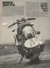 1974 Munch 1200 TTS - Vintage 6-Page Motorcycle Road Test Article