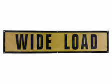 "Oversize Warning Products - Grommet Wide Load Sign 18"" x 84"" 