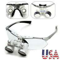 USA Dental Surgical Medical Binocular Loupes 3.5X 420mm Optical Glass Magnifier