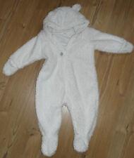 babykleidung Teddyoveral H&M Größe: 68 Farbe: altweiß