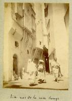 Algérie, Alger (الجزائر ), La Rue de la Mer Rouge  Vintage albumen print.  Tir