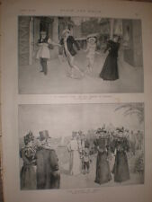 A Pierrot's Life at the Prince of Wales Theatre 1897 old print Ref L