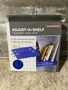 LockerMate Adjust-A-Shelf Locker Shelf, Extends to Fit Your Locker BLUE