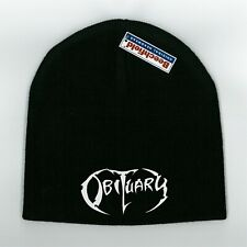 OBITUARY New Black Beanie Acrylic Knitted Hat Cuffed or Pull On